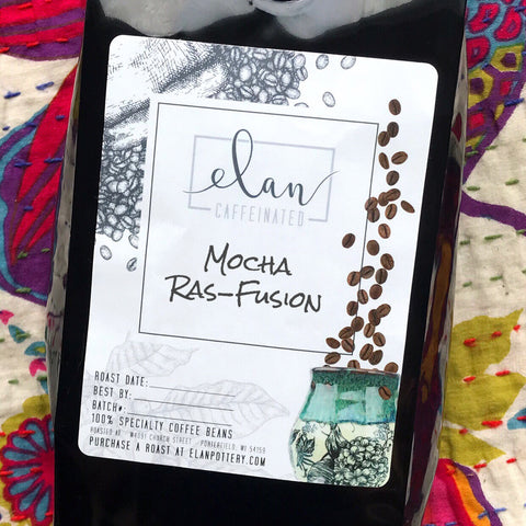 Mocha Ras-Fusion - 14 oz bag - Flavored Coffee