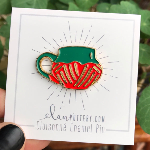 Mountain Carved Mug Enamel Pin (you choose color)