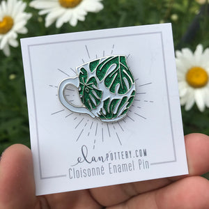 Monstera Leaf Mug Enamel Pin (you choose color)