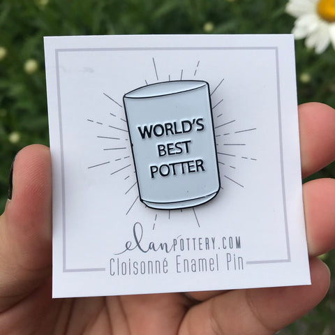 World's Best Potter Enamel Pin