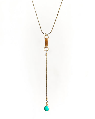Drop Dot Necklace • Turquoise
