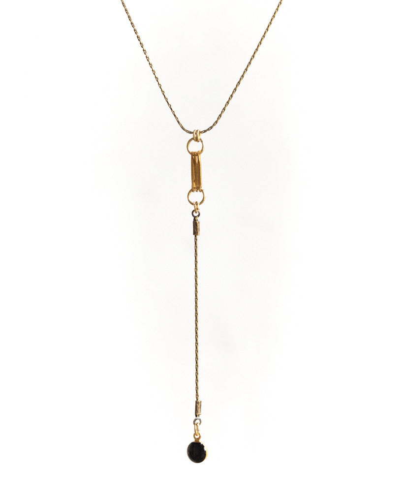 Drop Dot Necklace • Black