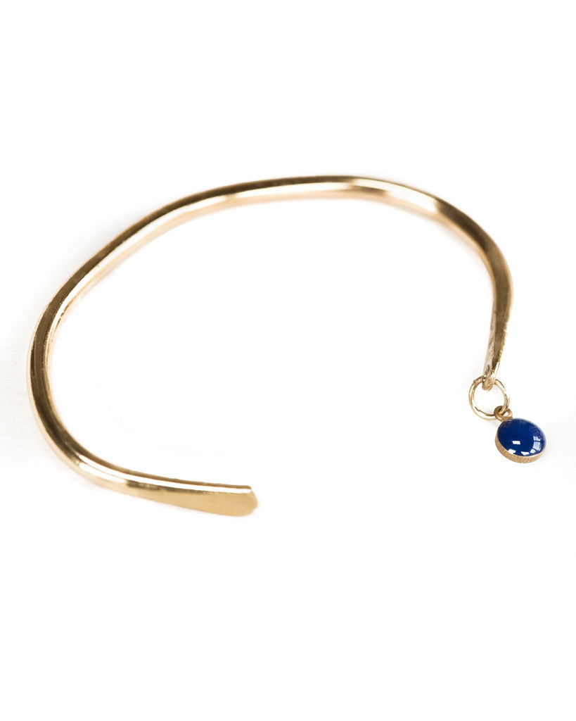 Deep Blue Dot Bangle