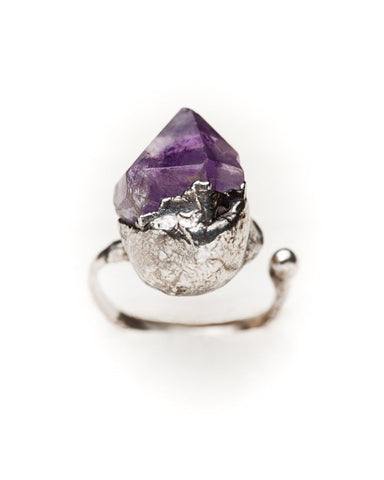 Purple Haze Ring • Silver
