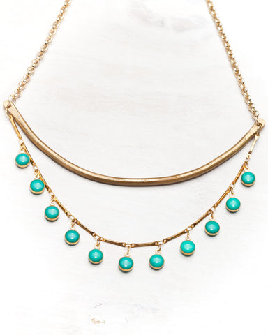 Sway Necklace • Turquoise