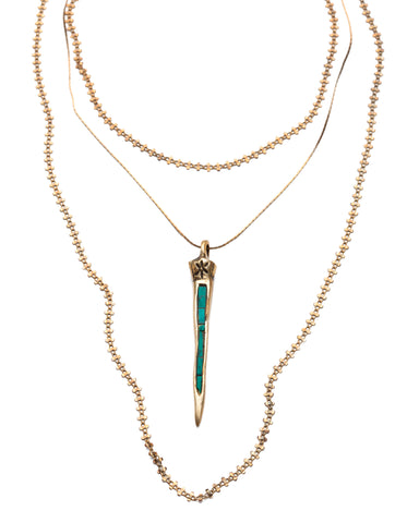 Serpentine Necklace • Turquoise