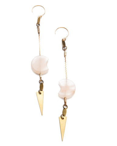 Quartz Threader Earrings • Gold