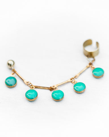 Dot Ear Cuff • Turquoise