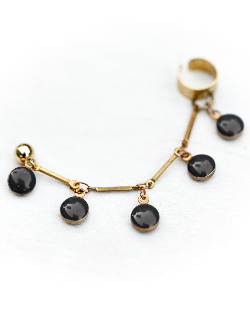 Dot Ear Cuff • Black