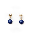 Deep Blue Dot Studs