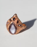 Seven Wonders Ring • Chocolate Moonstone & Rose Gold