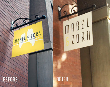 New Sign at Mabel and Zora