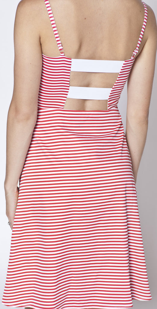 Tiffany Bean Red Stripe Eva Dress