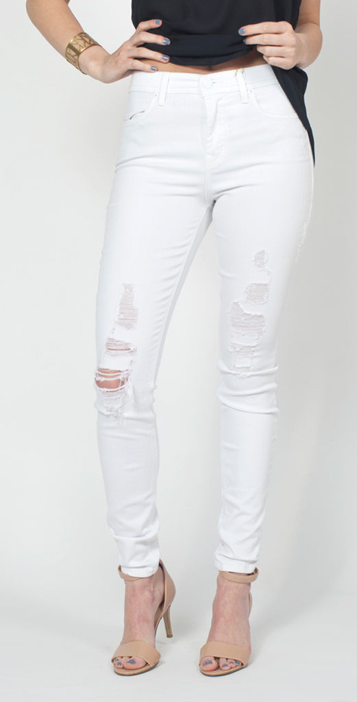 LEVEL 99 DISTRESSED TANYA HIGH RISE SKINNY