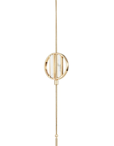 JENNY BIRD RHINE LARIAT NECKLACE IN GOLD/WHITE