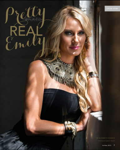 Emily Dees-Boulden in a feature story for Little Black Dress Magazine