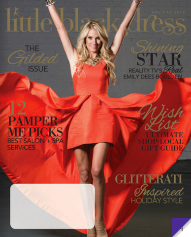 Emily Dees Boulden on the cover of Little Black Dress Magazine