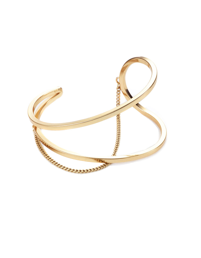 Jenny Bird River Cuff in High Polish Gold - SWANK - Jewelry - 1