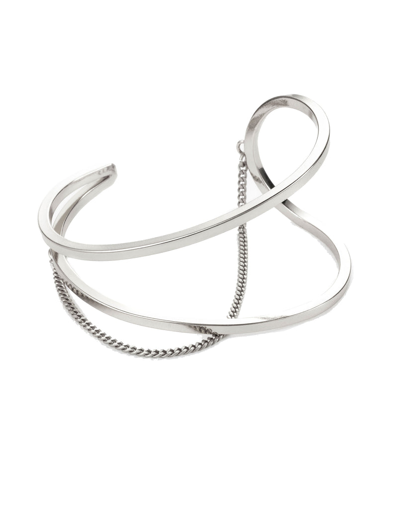 Jenny Bird River Cuff in High Polish Silver - SWANK - Jewelry - 1