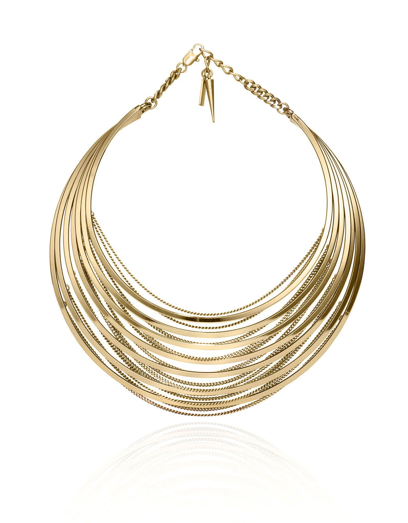 Jenny Bird Illa Collar in High Polish Gold - SWANK - Jewelry - 1