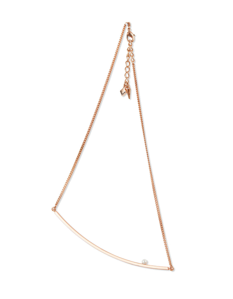 Jenny Bird Maigret Swing Necklace w/Pearl in Rose Gold - SWANK - Jewelry - 1