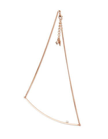 Jenny Bird Maigret Swing Necklace w/Pearl in Rose Gold