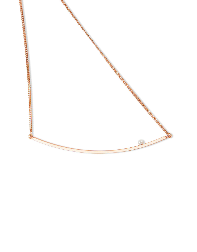 Jenny Bird Maigret Swing Necklace w/Pearl in Rose Gold - SWANK - Jewelry - 3