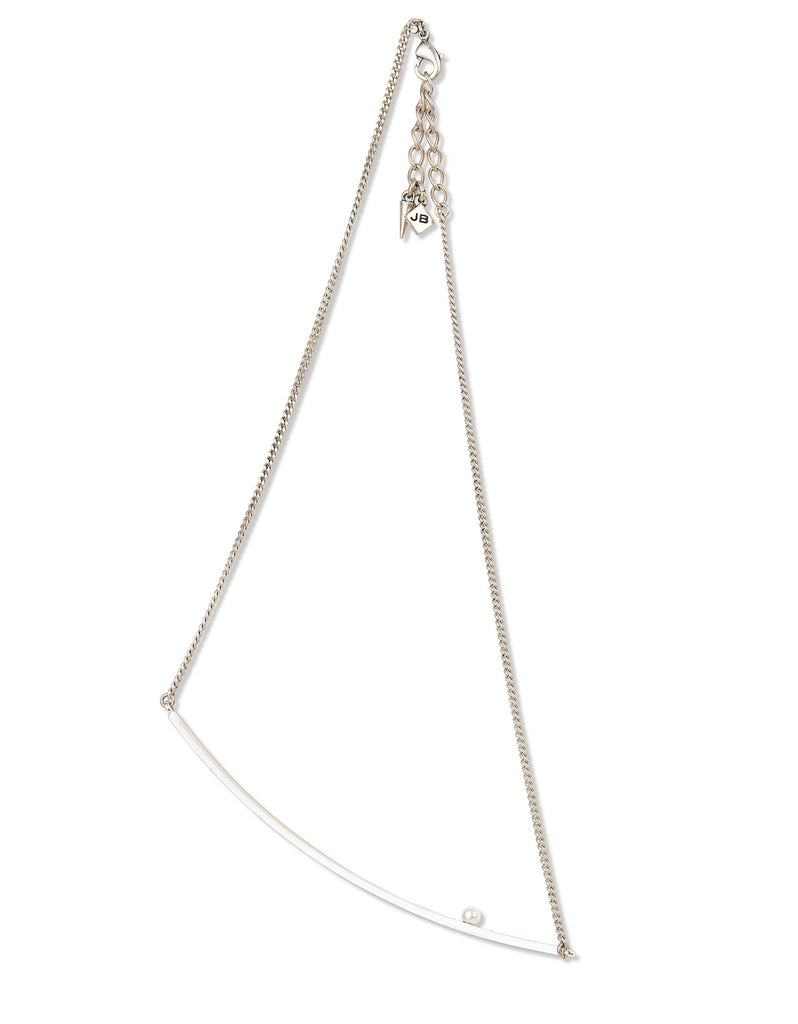 Jenny Bird Maigret Swing Necklace w/Pearl in Silver - SWANK - Jewelry - 1