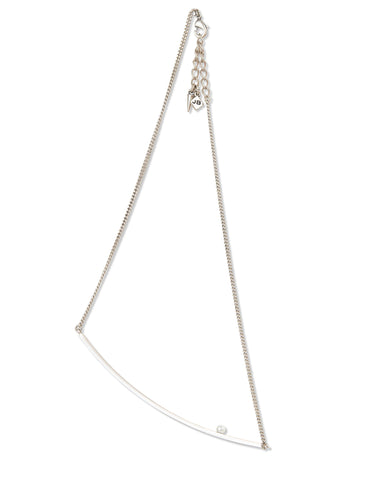 Jenny Bird Maigret Swing Necklace w/Pearl in Silver