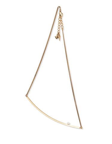 Jenny Bird Maigret Swing Necklace w/Pearl in Gold