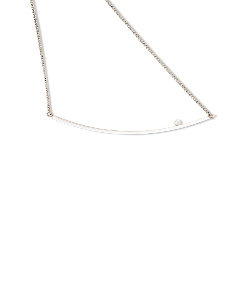 Jenny Bird Maigret Swing Necklace w/Pearl in Silver - SWANK - Jewelry - 3
