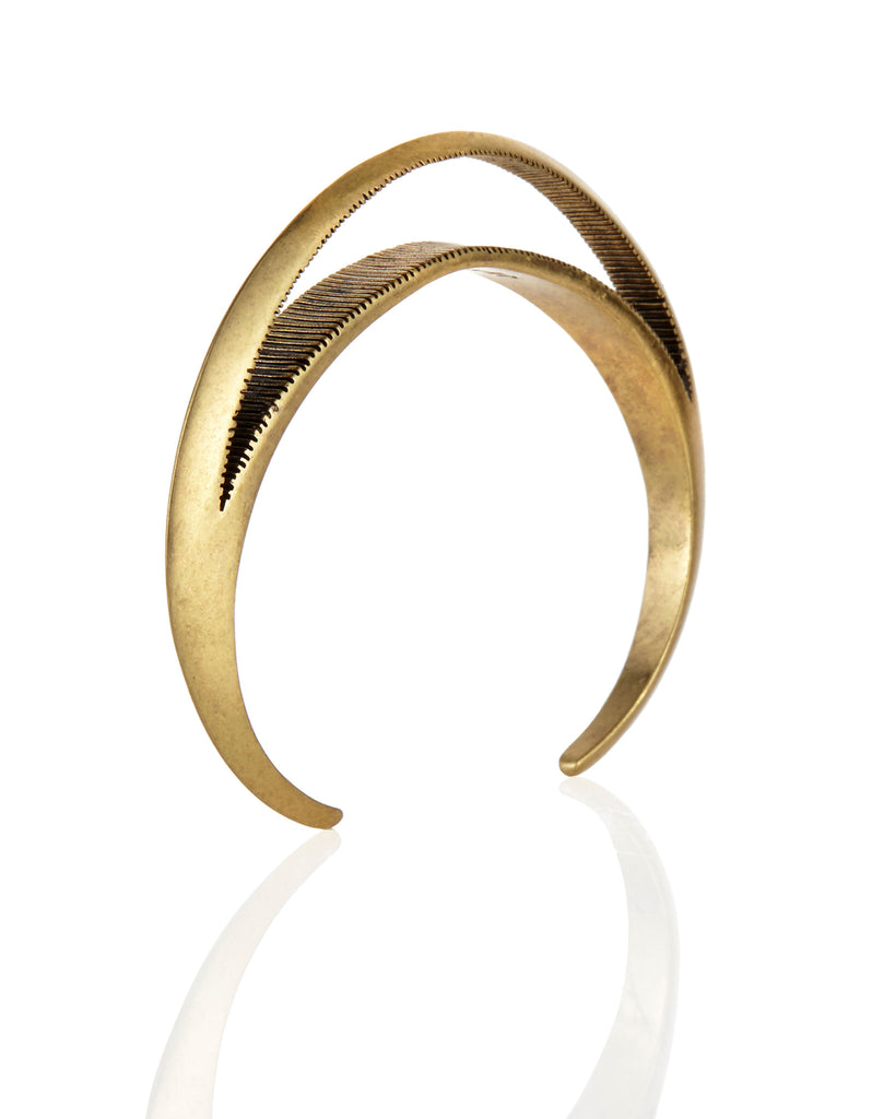 Jenny Bird Crescent Moon Cuff in Antique Gold - SWANK - Jewelry - 1