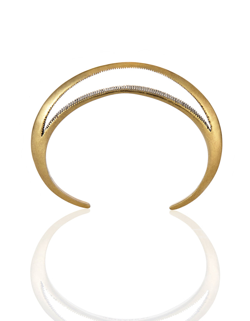 Jenny Bird Crescent Moon Cuff in Antique Gold - SWANK - Jewelry - 3