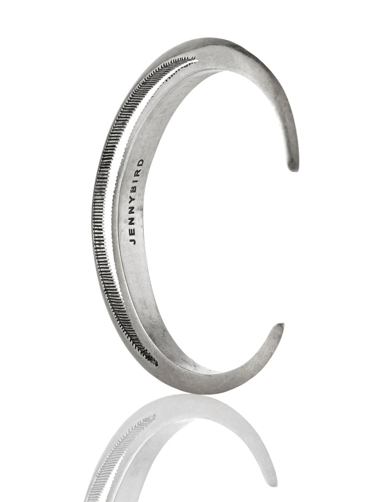 Jenny Bird Crescent Moon Cuff in Antique Silver - SWANK - Jewelry - 4