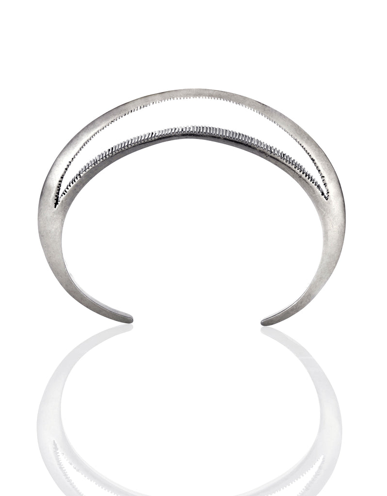 Jenny Bird Crescent Moon Cuff in Antique Silver - SWANK - Jewelry - 3