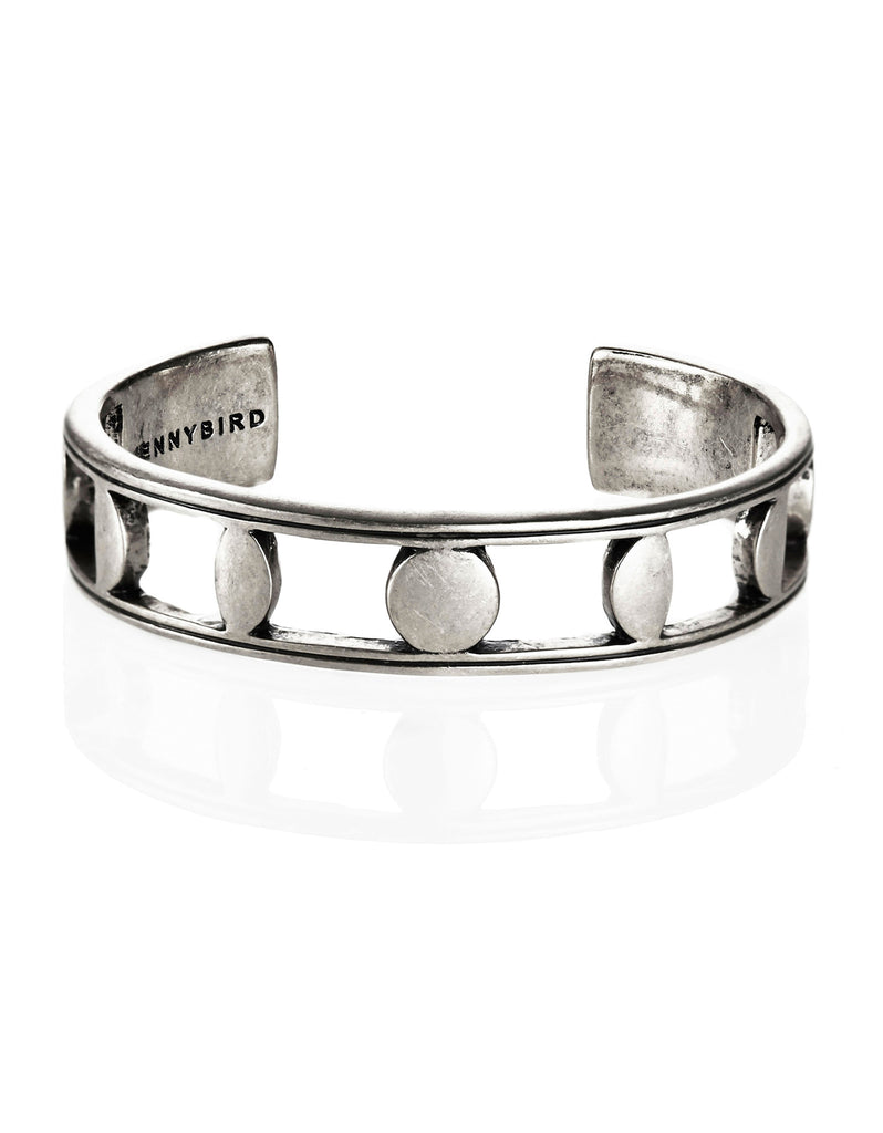 Jenny Bird Moonsong Cuff in Antique Silver - SWANK - Jewelry - 1