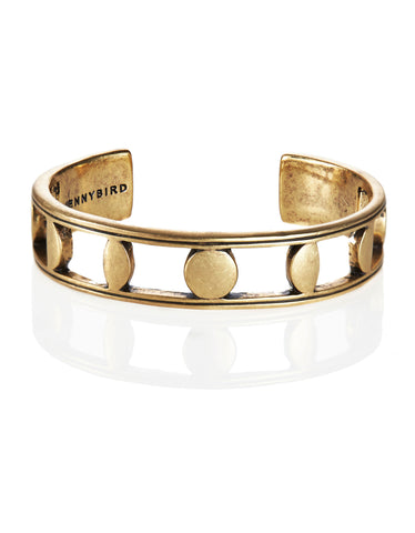 Jenny Bird Moonsong Cuff in Antique Gold