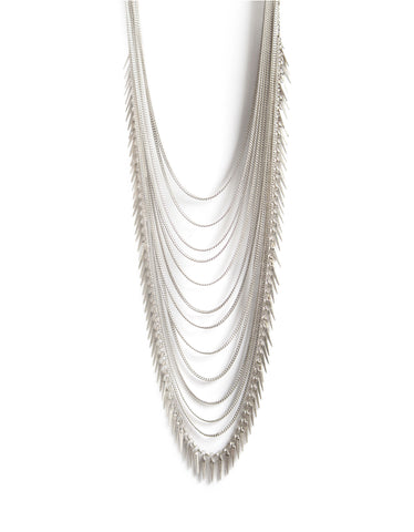 Jenny Bird Palm Meris Necklace in Silver