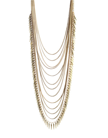Jenny Bird Palm Meris Necklace in Gold