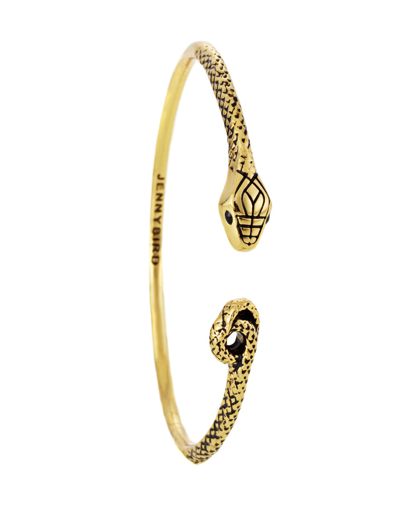Jenny Bird Kundali Queen Bangle in Gold - SWANK - Jewelry - 1