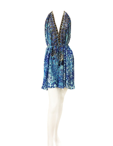 Shahida Parides Short 3-Way Style Dress in Sky Blue