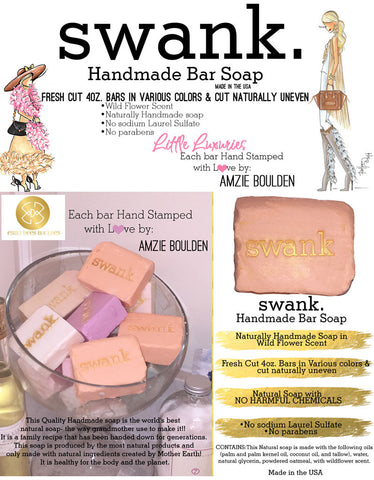 Swank Handmade All Natural Soap- 5 Bars