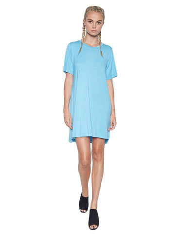 Michael Lauren Alberto T-Shirt Dress in Mermaid