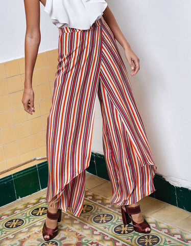 Alexis Austin Pant in Multicolor Stripes