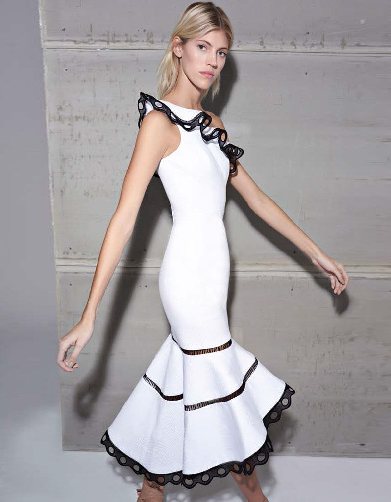 Alexis Christie Dress in White - SWANK - Dresses - 2