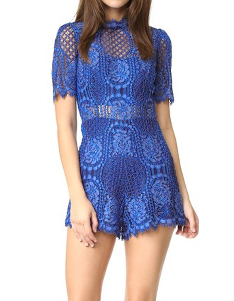 Alexis Heidi Romper in Passionate Blue - SWANK - Jumpsuits - 2