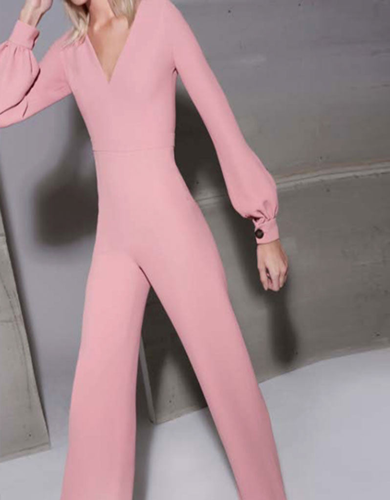 Alexis Isadore Jumpsuit in Ash Pink - SWANK - Jumpsuits - 5