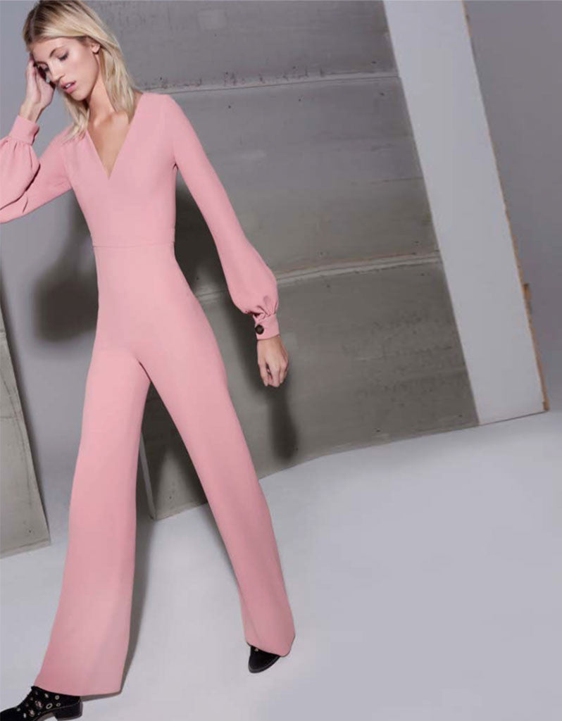 Alexis Isadore Jumpsuit in Ash Pink - SWANK - Jumpsuits - 1