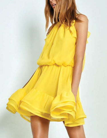 Alexis Monic Short Dress in Yellow
