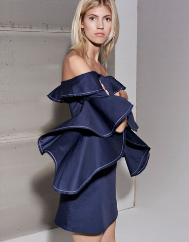 Alexis Rachel Dress in Navy Blue